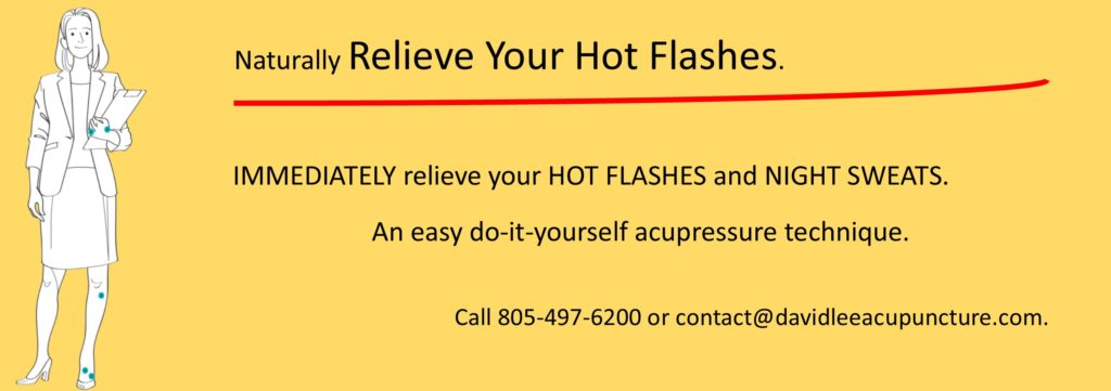 Relieve Hot Flashes with Acupressure