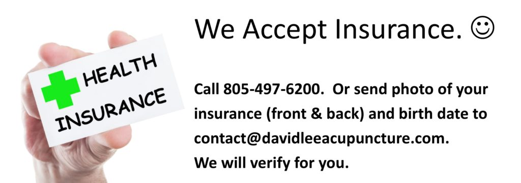 Insurance accepted by David Lee Acupuncture Clinic