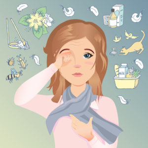 Allergy and sinusitis relieved with acupuncture and diet
