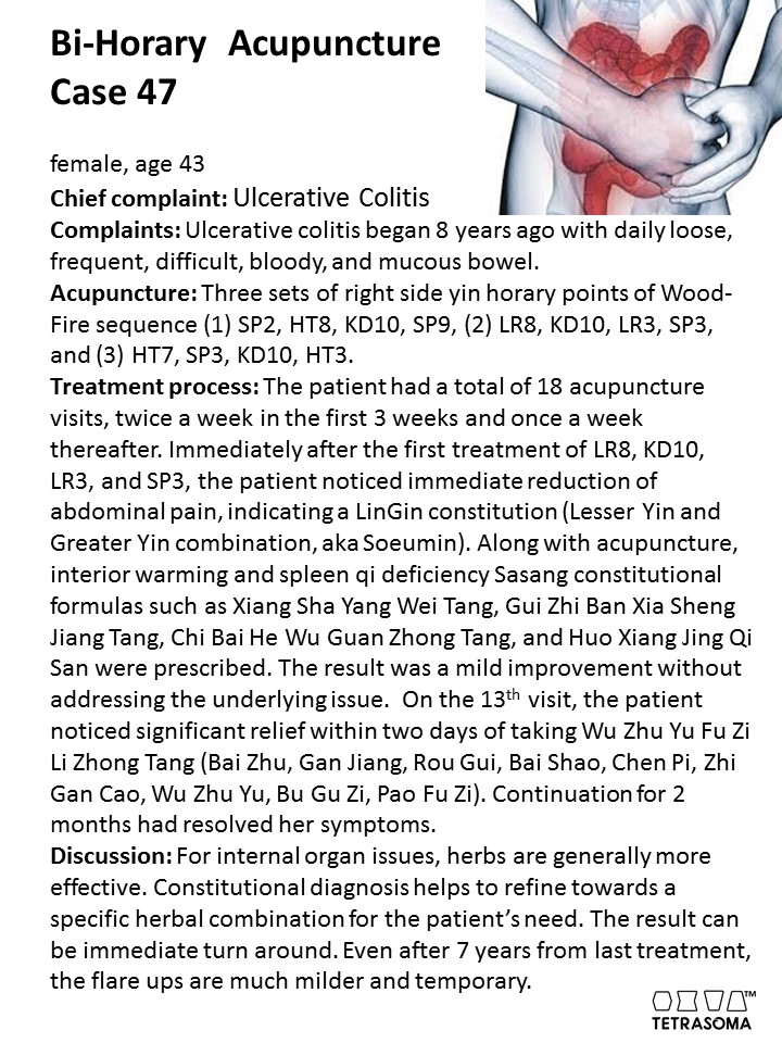 Asian herbs successfully treat ulcerative colitis